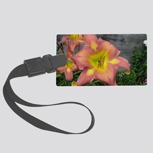 Do The Twist Daylily Large Luggage Tag