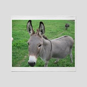 Miniature Donkey Throw Blanket