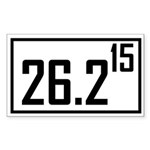 Marathon 15 Rectangle Sticker