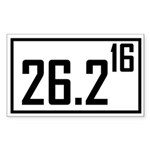 Marathon 16 Rectangle Sticker