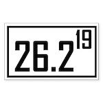 Marathon 19 Rectangle Sticker