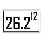 Marathon 12 Rectangle Sticker