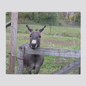 Miniature Donkey II Throw Blanket