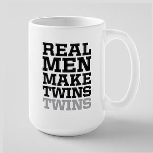 REAL MEN MAKE TWINS Mugs