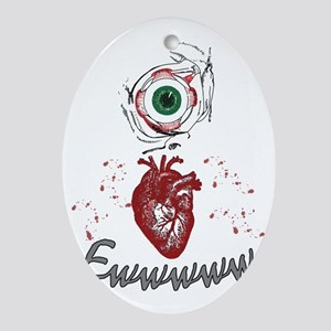 Eye Heart Ewww Oval Ornament