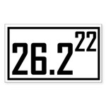Marathon 22 Rectangle Sticker