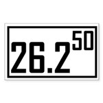 Marathon 50 Rectangle Sticker