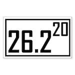 Marathon 20 Rectangle Sticker
