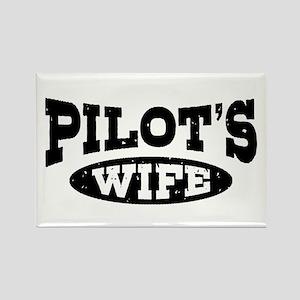 Pilot's Wife Rectangle Magnet