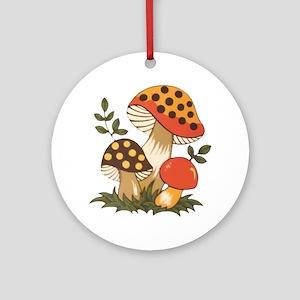Merry Mushroom Round Ornament