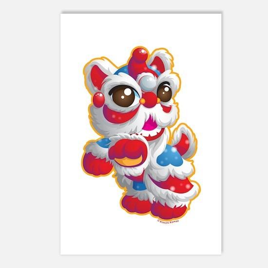 Cute Lion Dancer Postcards (Package of 8)