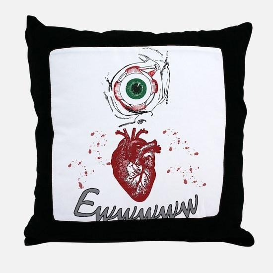 Eye Heart Ewww Throw Pillow