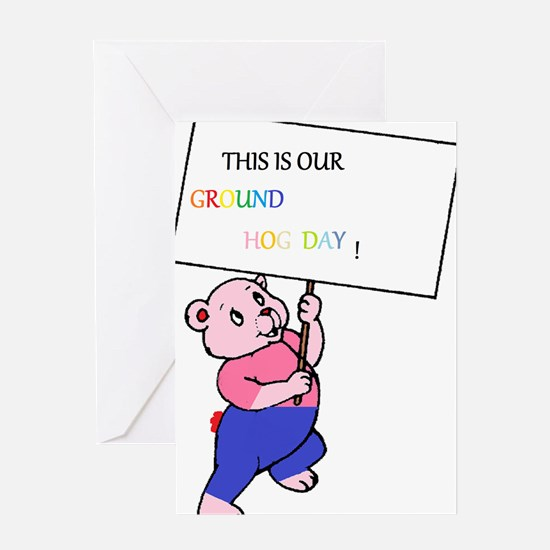 ground hog day Greeting Cards