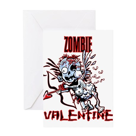Zombie Valentine Greeting Cards