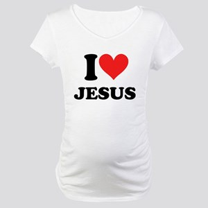 I Love Jesus Maternity T-Shirt