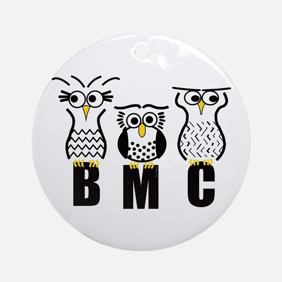 BMC Owls Ornament (Round)