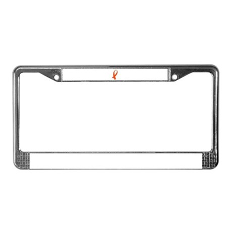 Awareness Ribbon (Orange) License Plate Frame by BCGBotique