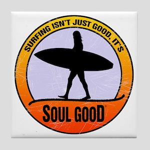Surfer Girl - Soul Good Tile Coaster