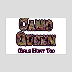 Camo Queen- Girls Hunt Too Pink Wall Decal