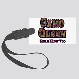 Camo Queen- Girls Hunt Too Pink Luggage Tag