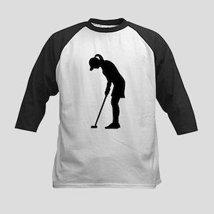 Golf woman girl Kids Baseball Jersey