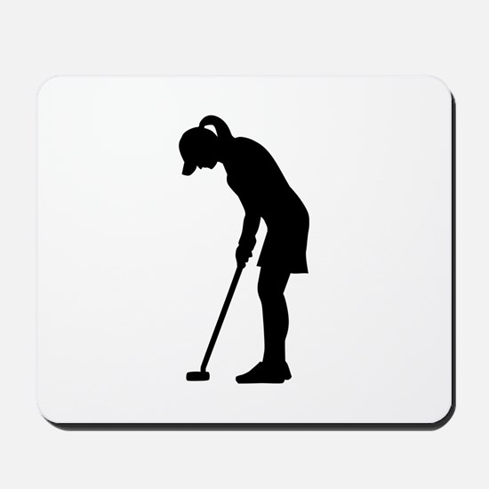 Golf woman girl Mousepad
