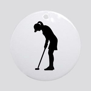 Golf woman girl Ornament (Round)