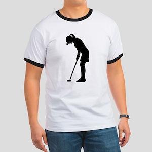 Golf woman girl Ringer T