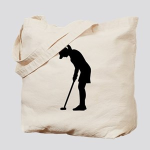 Golf woman girl Tote Bag