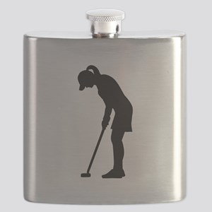 Golf woman girl Flask