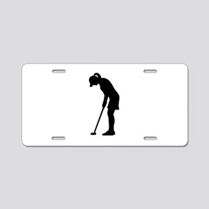 Golf woman girl Aluminum License Plate