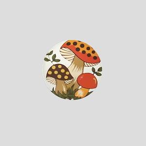 Merry Mushroom Mini Button
