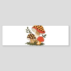 Merry Mushroom Bumper Sticker