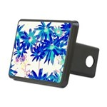 Blue flowers Hitch Cover