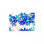Blue flowers Aluminum License Plate