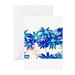 Blue flowers Greeting Cards