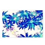 Blue flowers Postcards (Package of 8)