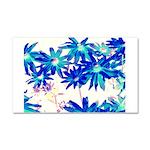 Blue flowers Car Magnet 20 x 12