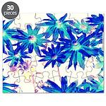 Blue flowers Puzzle