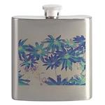 Blue flowers Flask