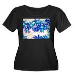 Blue flowers Plus Size T-Shirt