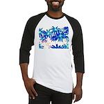 Blue flowers Baseball Jersey