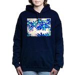 Blue flowers Hooded Sweatshirt