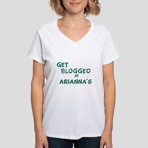 HuffPo Women's V-Neck T-Shirt