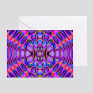 Diffraction Pattern Purple Greeting Card