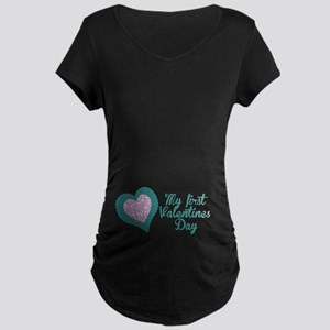 My first Valentines Day Maternity Maternity T-Shir