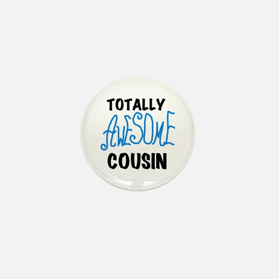 Blue Awesome Cousin Mini Button