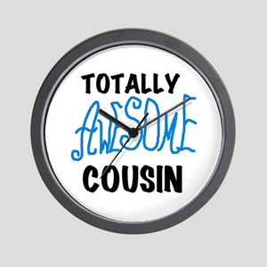 Blue Awesome Cousin Wall Clock