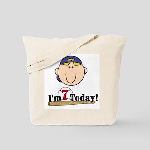 Baseball 7th Birthday(blond) Tote Bag