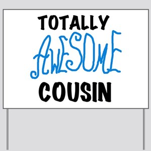 Blue Awesome Cousin Yard Sign